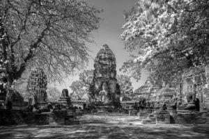 Tempel Ruine Thailand s/w 879     