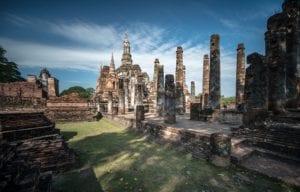 Tempel Ruine Thailand 887     
