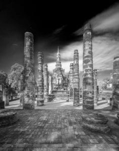 Tempel Ruine Thailand s/w 888 |  |