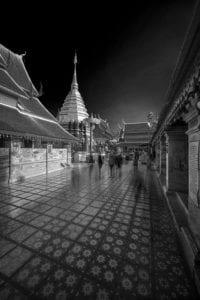 Alte Tempelanlage innen Thailand s/w 902 <br />Philipp Neise <br />