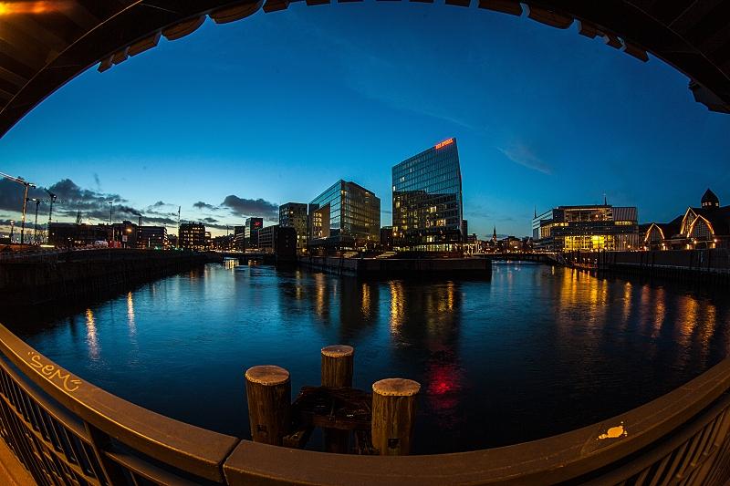 Morgendämmerung Hafencity Hamburg     