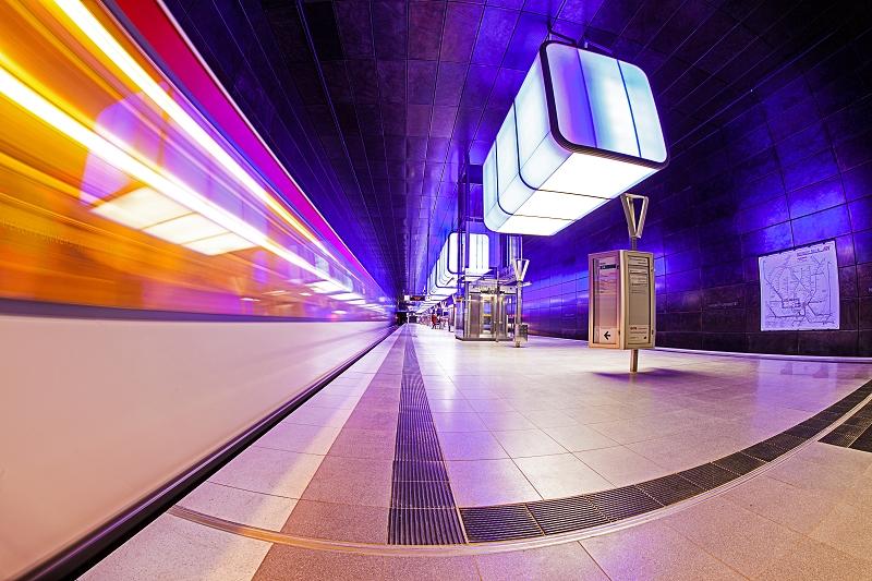 U-Bahn Station Hafencity Hamburg     