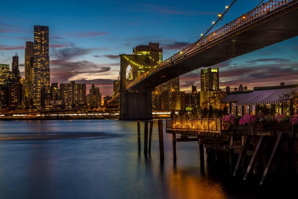 Brooklyn Bridge bei Nacht Motiv 1111 |  |