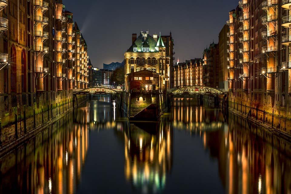 Wasserschloss Speicherstadt Hamburg Motiv 1118
