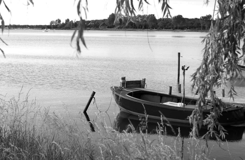 Maritime Stimmung in Maasholm s/w Motiv 1058     