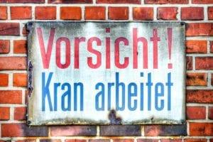 Schild Vorsicht Kran arbeitet 987 | Frank Thilo Fenner |