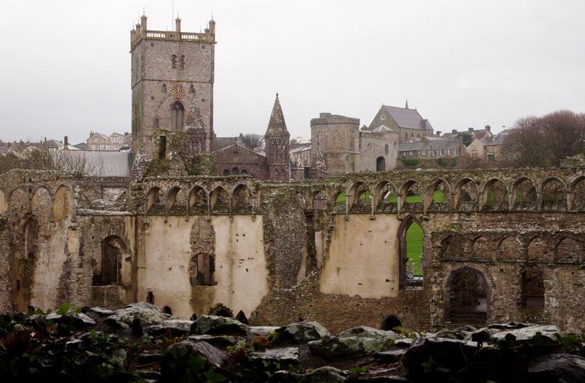 Burg Wales Großbritannien Motiv 1234     