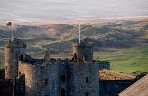 Alte Burg Wales Großbritannien Motiv 1248 <br />Fritz Meffert <br />