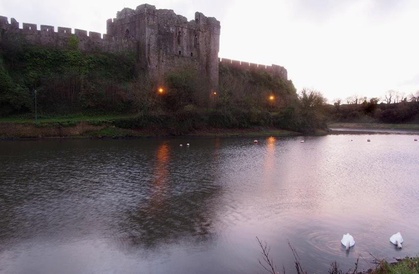 Alte Burg Wales Großbritannien Motiv 1251     