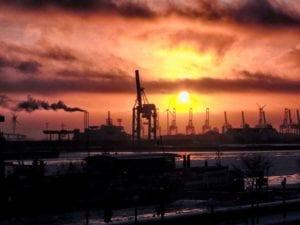 Abendrot am Hafen Motiv 1208 | Nasario Khan |