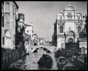 Venedig Vintage s/w Motiv 1204 <br />Nasario Khan <br />