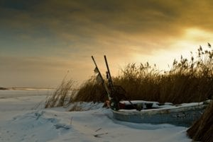Boot im Schnee Insel Poel Ostsee Motiv 1262 | Galerie30 und Freunde |  - Matthias Enning