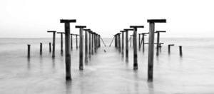 Nordsee Steg s/w Motiv 1273 | Galerie30 und Freunde |