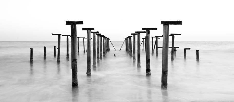 Nordsee Steg s/w Motiv 1273 |  |