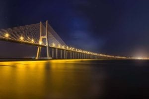 Brücke in Gelb Motiv 1361 | Charles Schrader |