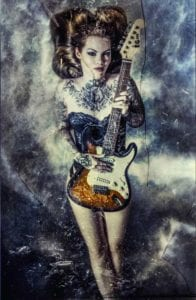 Guitar Girl Motiv 1393 | Charles Schrader |