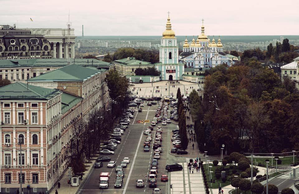 Stadtleben in Kiew Motiv 1334     