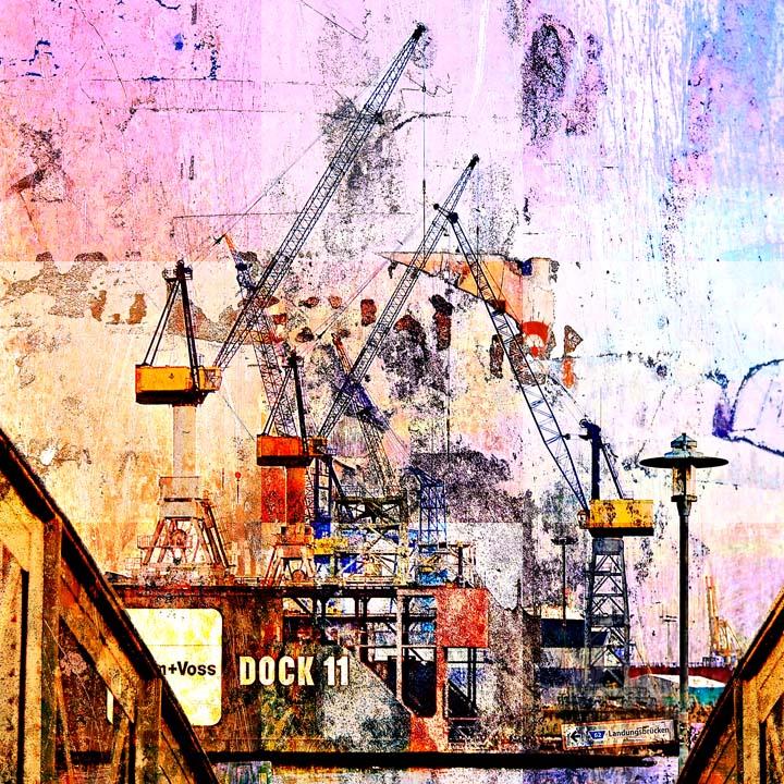 Dock 11 beim Fischmarkt Mosaik Motiv 1646
