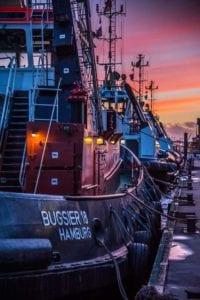 Hafenschlepper Sonnenuntergang Motiv 1630 | Stefan Karstens |